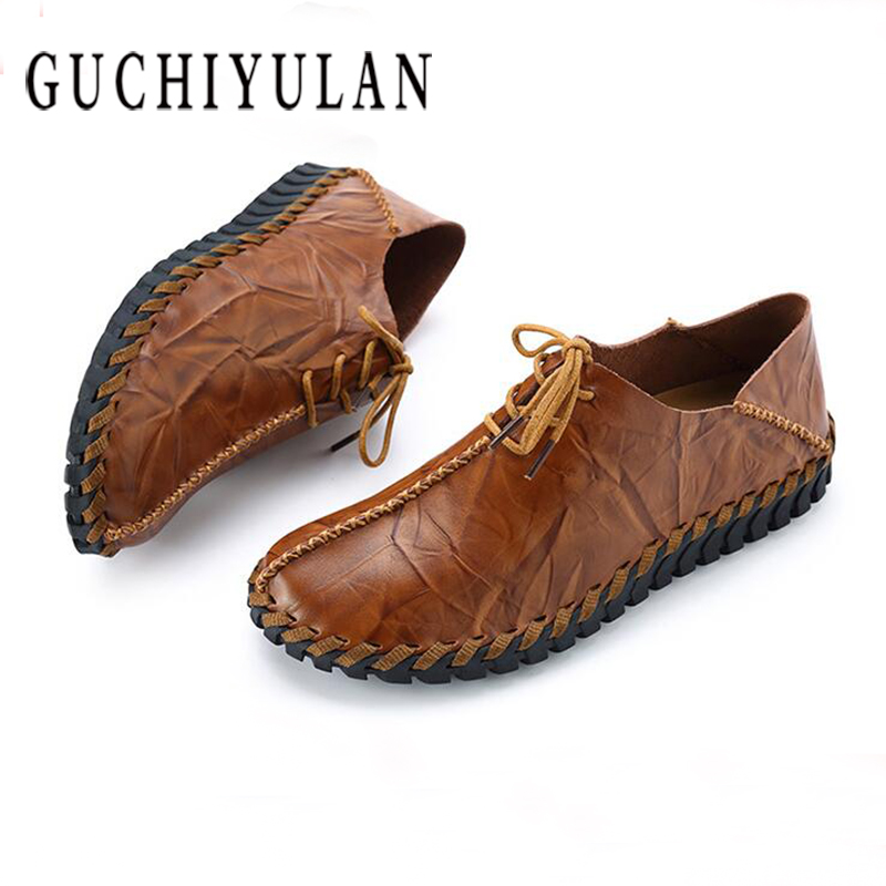 2018 New Handmade Mens Loafers Shoes High Quality Genuine Leather Men Driving Shoes Breathable Mens Moccasins Shoes 2017 new brand breathable men s casual car driving shoes men loafers high quality genuine leather shoes soft moccasins flats