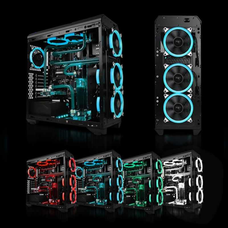 كمبيوتر 120 مللي متر LED مروحة مبرد مياه 120 مللي متر مروحة باردة وهج أحمر أزرق أخضر أبيض برودة مروحة