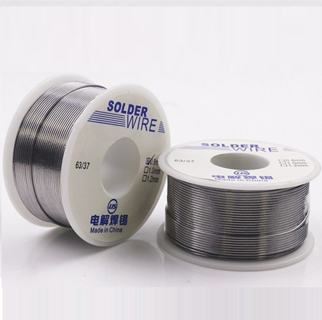 HOT 100g 0.6/0.8/1/1.2/1.5/2MM 63/37 FLUX 2.0% 45FT Tin Lead Tin Wire Melt Rosin Core Solder Soldering Wire Roll No-clean