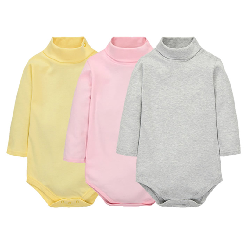 TONGMAO Baby Clothing Newborn Baby Boys Girls Clothes Jumpsuit Long Sleeve Infant Product Solid Turn down Collar Rompers in Rompers from Mother Kids