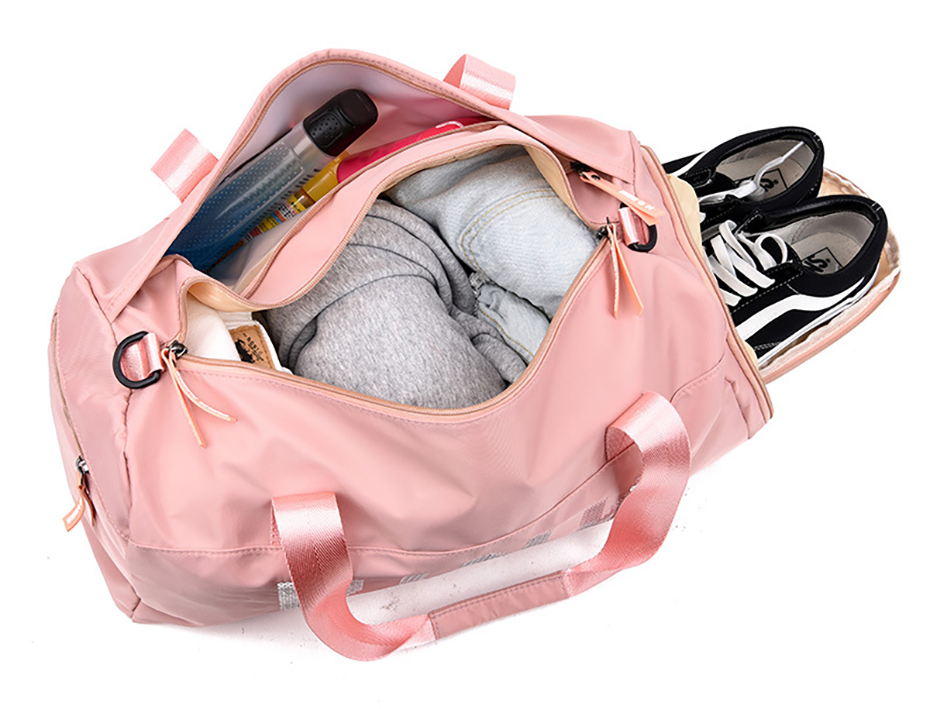Outdoor Waterproof Nylon Sports Gym Bags Men Women Training Fitness Travel Handbag Yoga Mat Sport Bag with shoes Compartment01003101
