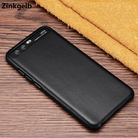 For Huawei P10 Case Cover Luxury Cute Genuine Leather Hard Slim Protect Armor Phone Case For