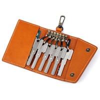 J.M.D High Quality Leather Vintage Car Key Bag Leather Keychain Key Case Holder For Men 8132B-1