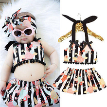 newborn baby girl clothes New Toddler Baby Girl Clothes Floral Tops+ Skirts Dress 2pcs Outfits Set Costume