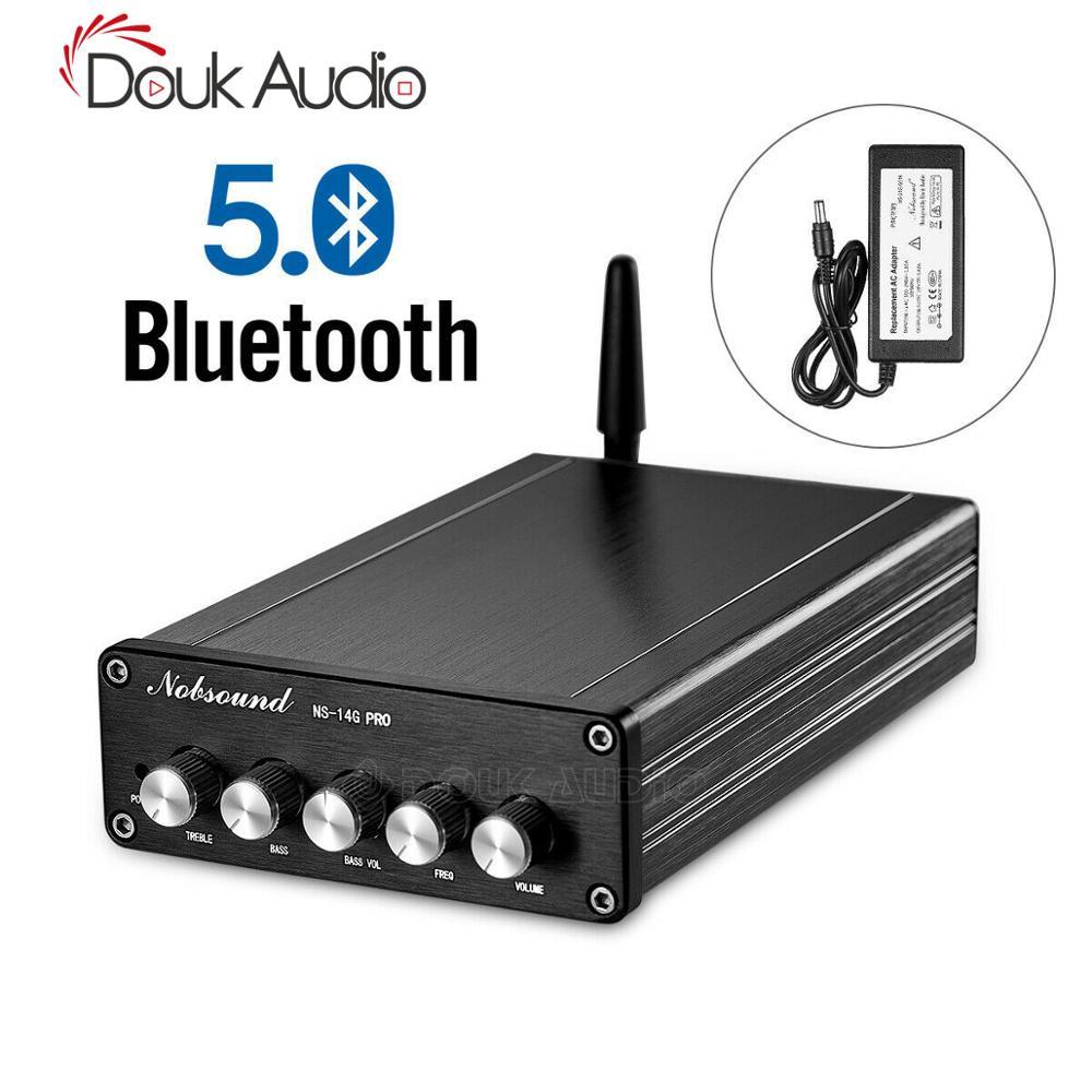 Amplificador de Potência Digital de 2.1 Canais de Áudio Nobsound Bluetooth 5.0 Hifi Estéreo Amp