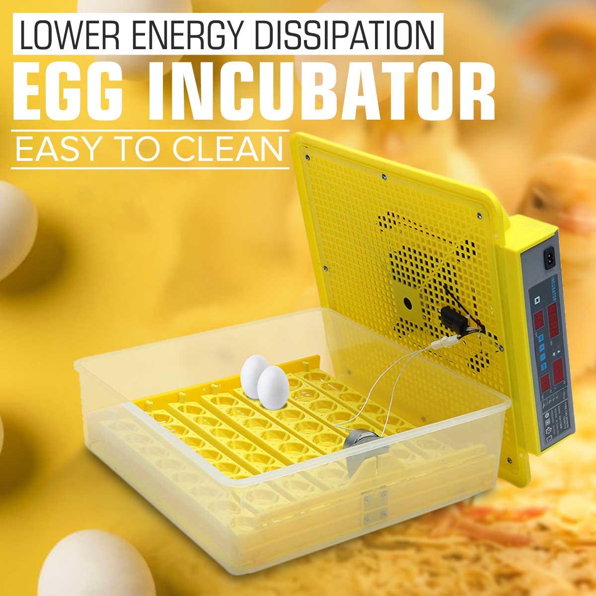 56 Transformando Frango Pato ovo Incubadora Nascedouro Chocadeira Digital Totalmente Automático Controle de Temperatura Umidade Nova máquina de Incubação