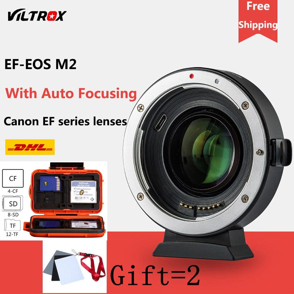 Viltrox EF-EOSM M2 AF Auto-focus EXIF 0.71X Réduire accélérateur de vitesse adaptateur de lentille Turbo pour Canon EF lens pour EOS M5 m6 M50 Caméra