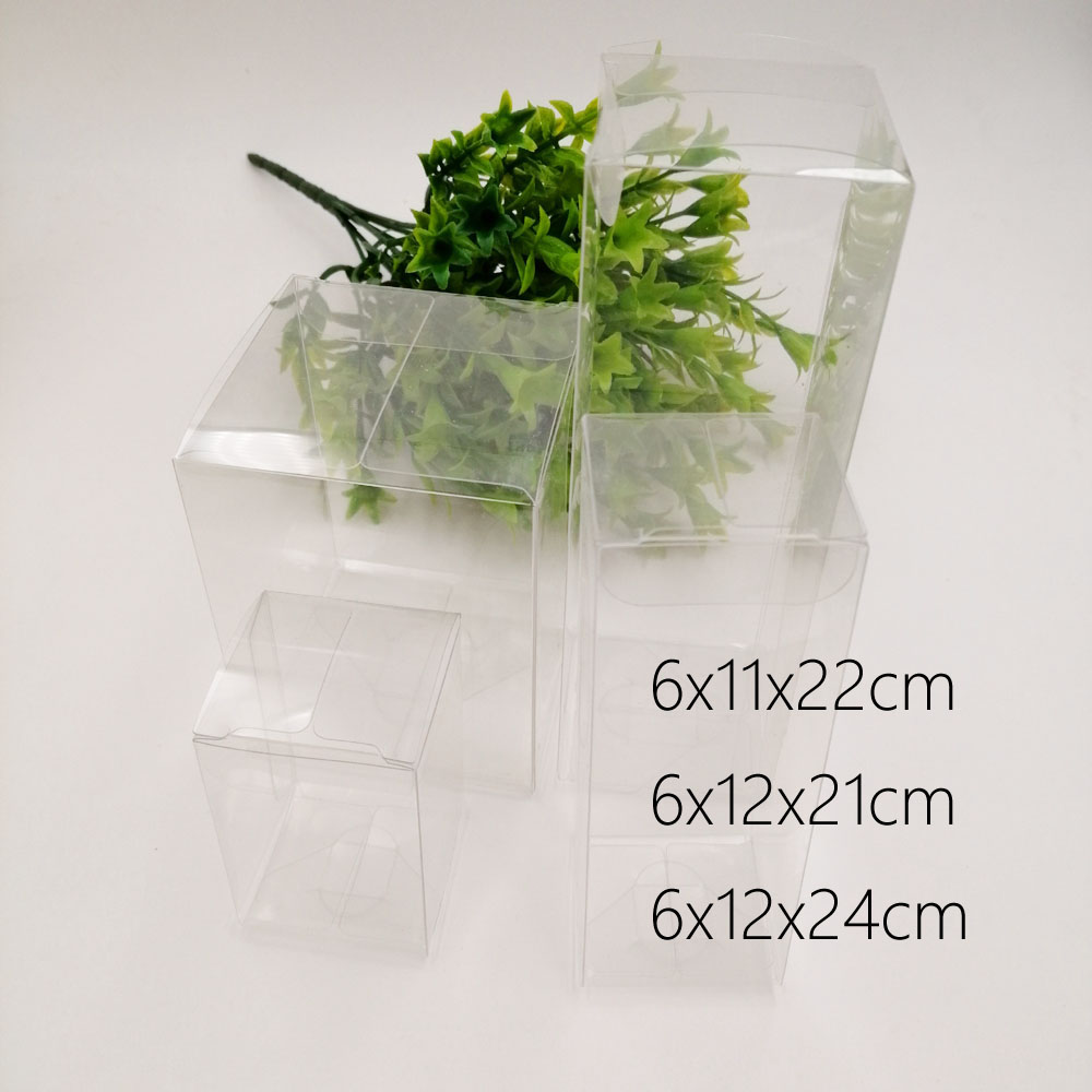 30pcs 6xWxH Pvc Plastic Box Storage Transparent Boxes Jewelry Gift Box Wedding Christmas Candy Party For