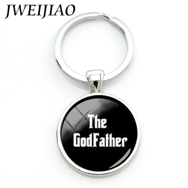 JWEIJIAO 2017 Rushed Promotion Porte Clef Church Baptism Jewelry Custom The God Father Godfather Keychain Faith Gift Keyholder