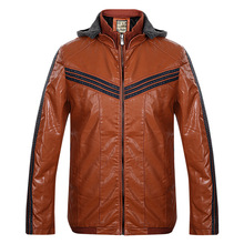 Thick warm men 's jacket autumn and winter fashion solid color hooded zipper jacket leisure men