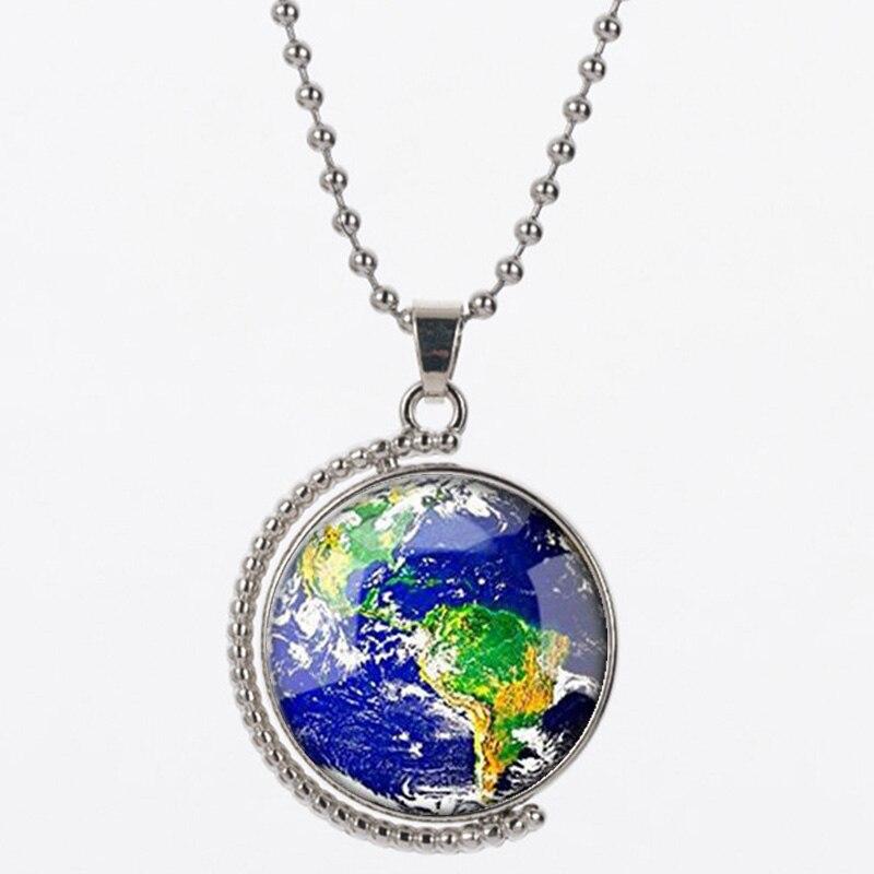 LVS2 terre forme pendentif collier pour femmes et homme résine 925 argent de bonne qualité
