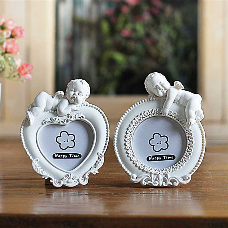 White Color New Design Cute Cupid Style Photo Frame,Mini Picture Frames Home Table Decor Wedding Gifts Photo Studio Gifts