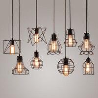 American rustic pendant lights kitchen island light Iron cage lampshade warehouse retro indoor lighting Kitchen lighting fixture