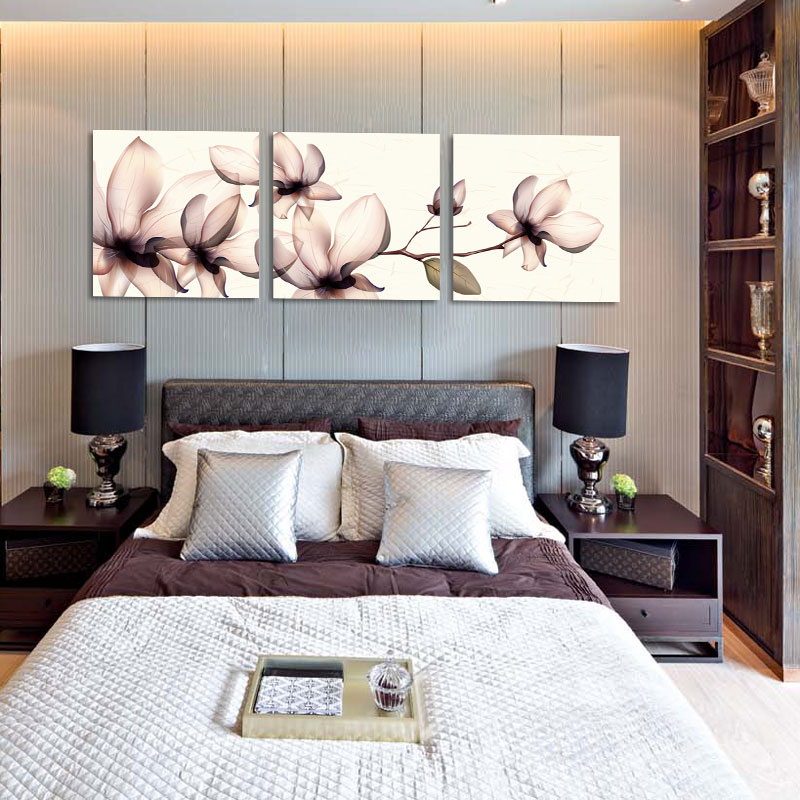 Bedroom Dining Room Decorated Orchid Gift Abstract Modern Canvas Prints Picture 3 Piece Wall Art Painting For Living Decor In Calligraphy