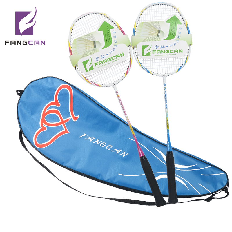 2pcs FANGCAN Forever 999 For Lovers Badminton Racket Carbon Aluminum Alloy Badminton Racket With String With Cover