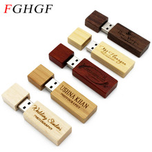 FGHGF LOGO customized wooden Usb Flash drive customer LOGO pendrive 8GB 16GB 32GB U disk Memory Stick PHOTOGRAPHY wedding gifts
