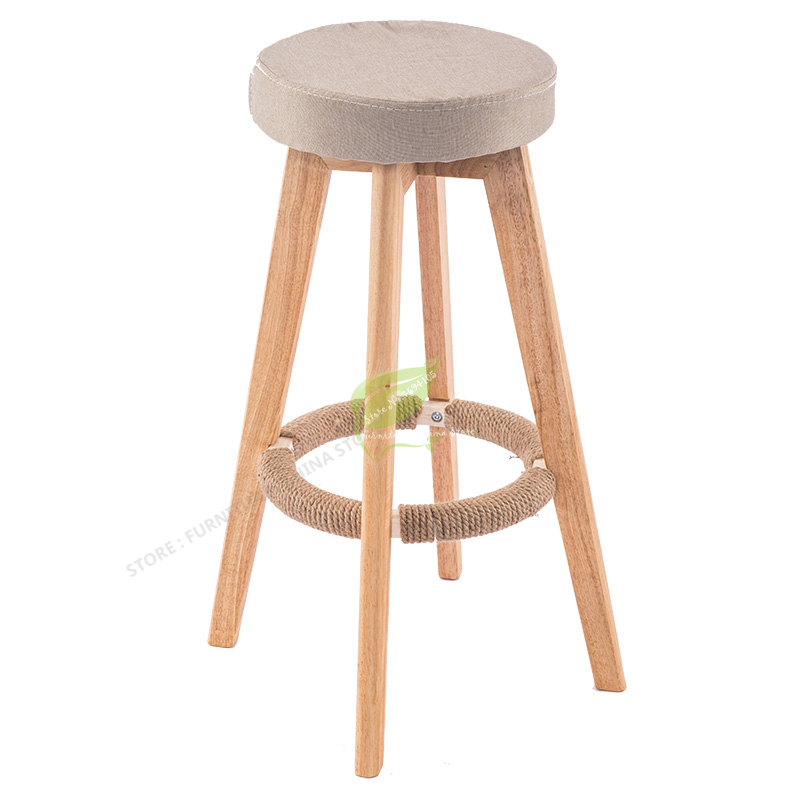 Iron Bar Chair Stool Bar Tabouret De  Seat Bar Furniture Make Up Chair Beauty Salon Furniture Nordic Solid Wood