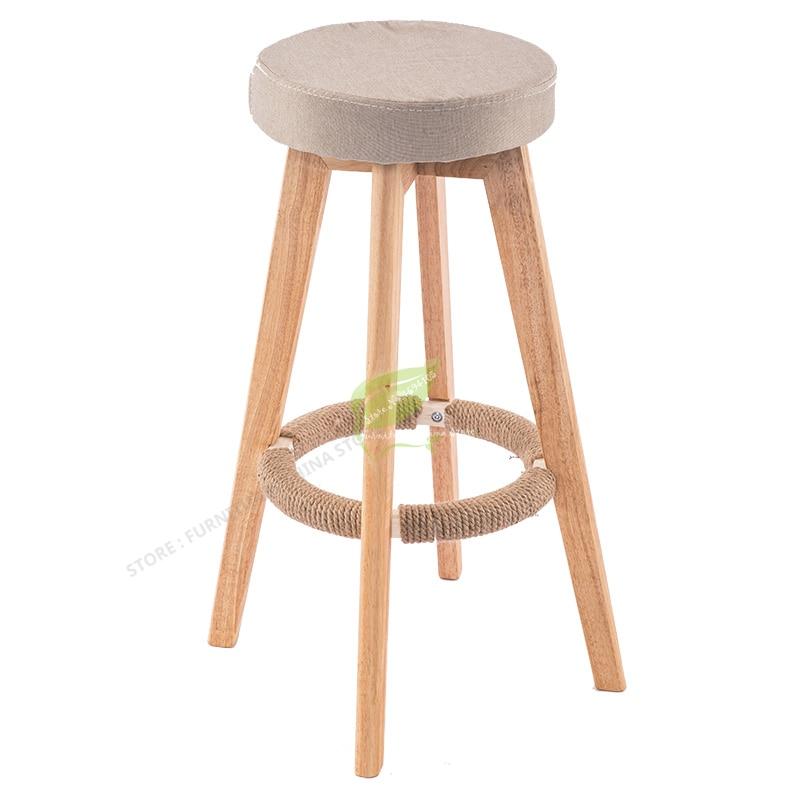 Iron Bar Chair Stool Bar Tabouret De  Seat Bar Furniture Make Up Chair Beauty Salon Furniture Nordic Solid Wood