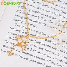 8SEASONS New Fashion Chemistry Science Necklace Cell Link Cable Chain Gold color 47.5cm(18 6/8″) long, 1 Piece