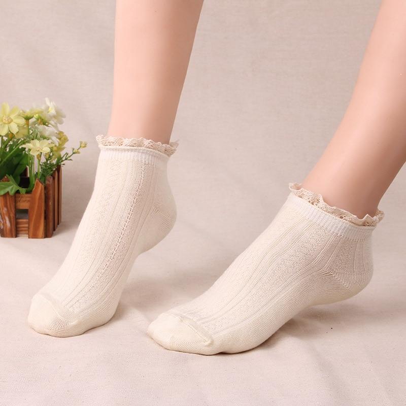 Hot Sale Women Sweet Comfortable Breathable lace Socks Lady Girls Street Trendy Cotton Short Sock 5pair/lot