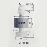 M16 85MM 110V Corrosion Resistant Float Switch Plastic Anticorrosion Water Level Sensor Liquid ZF8516 1A1