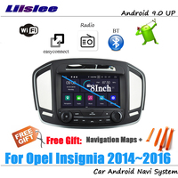 Liislee Android 9 4+32G For Opel Insignia 2014~2016 Stereo Car Video Carplay GPS Navi Map Navigation System Multimedia