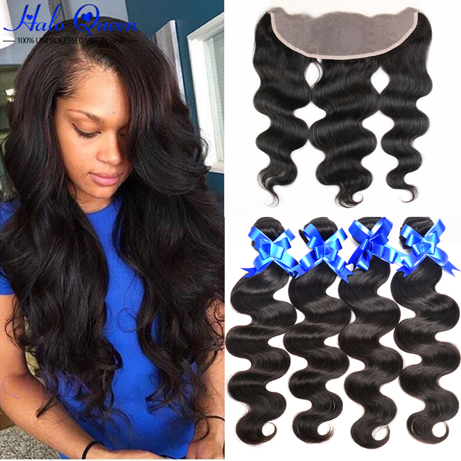 7a Hot Peruvian Virgin Hair Bundles With Frontal 13×4 Lace Frontal With Bundles Ear To Ear Lace Frontal Closure With Bundles
