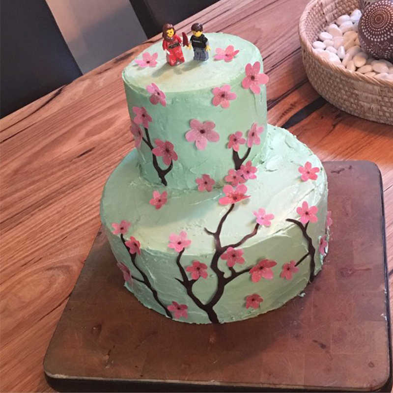 Astonishing 1 Sheet Set Plum Blossom Edible Wafer Paper For Kids Birthday Cake Funny Birthday Cards Online Bapapcheapnameinfo