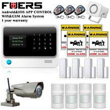 2.4G WiFi Seguridad Para El Hogar GSM Sistema de Alarma para el Hogar de Protección GPRS Sistema de Alarma IOS Android APP Control con IP al aire libre cámara
