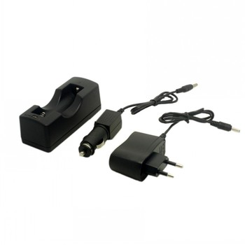 EU/US/AU/UK 18650 battery Charger with Car charger for Rechargeable 18650 Battery image