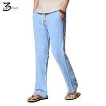 XMY3DWX Fashion männer Slim Fit leinen freizeithosen/männlichen herbst Herbst hohe Reine farbe freizeithose