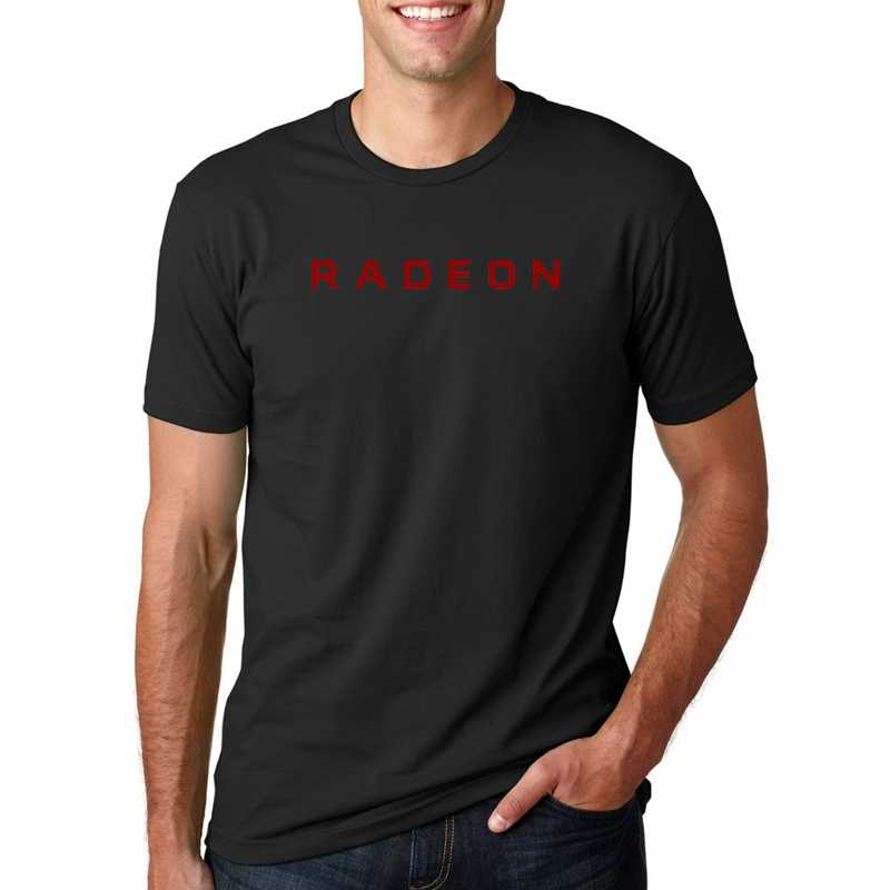 PC graph process Gamer AMD Radeon RX Vega T shirt Geek Men tees cotton casual camiseta ryzen clothing