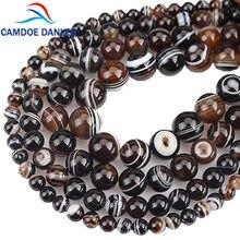 Pedra natural alta qualidade café onix ágata, redonda solta contas 6 8 10 12 14mm diy pulseira colar miçangas para fazer jóias