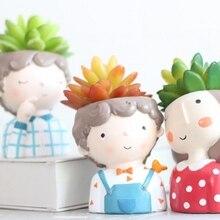 Цветочная девочка растения ваза европейский стиль суккулент горшки для растений горшок мини Бонсай Кактус цветочный горшок домашний Декор Ремесло