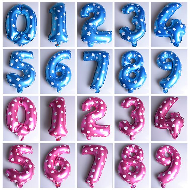 Number Design Balloon