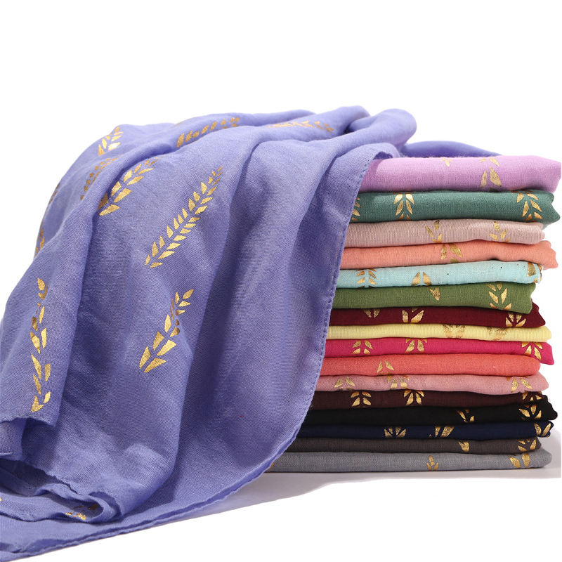 Fashion Cotton Winter Scarf Women Long Sequined Viscose Muslim Hijab Shalw Scarves for Women Pashmina Wraps Ladies Headband(China)