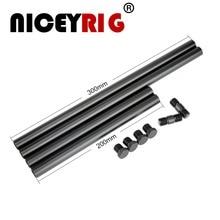 NICEYRIG varilla de aluminio de 15mm para cámara DSLR, aparejo de cámara Grabación de Vídeo, sistema de soporte de aparejo de hombro para Instagram ( 20cm * 2 + 30cm * 2)