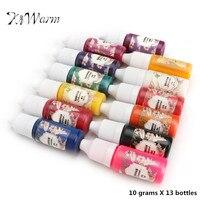 KiWarm 13 Butelek x10g Praktyczne Żywica Epoksydowa UV Dye Farbowanie barwnik Pigmentowy DIY Handmade DIY Akcesoria Modelarskie 13 Kolory Nie zapach