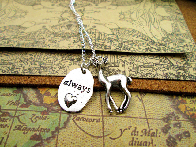 Snape and Lily Patronus Necklace