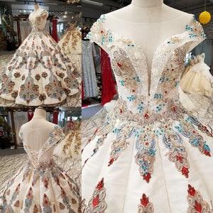 Image 2 - AIJINGYU robe de mariée Vintage en dentelle, blanche, robe de mariée, prix réel, style Boho, robes de mariée de la saison, nouvelle collection