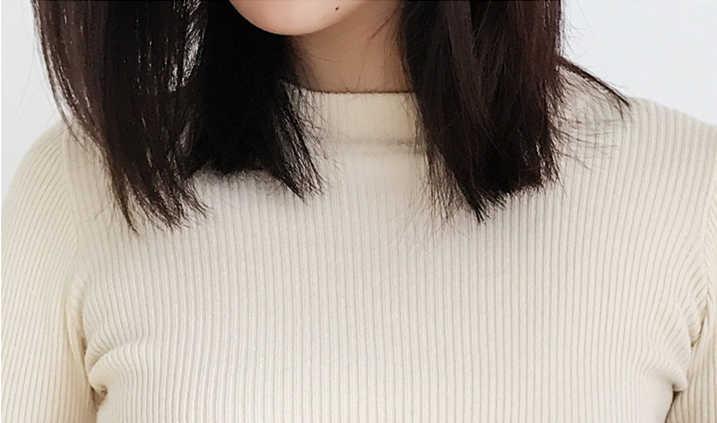 새로운 2019 가을 겨울 여성 bottoming shirt 슬림 피트 풀오버 스웨터 o 넥 오피스 숙녀 모리 걸 캐주얼 우아한 sw1026