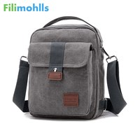 New Men Crossbody Bag Canvas Small Quality Canvas Shoulder Messenger Bags Handbag Chest Pack Bags For