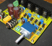 E4 이중 차동 fet 입력 전력 증폭기 보드 키트 클래스 a mos 전원 튜브 출력 amp (718 군용 게이지 저항 포함)