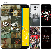 Silicone Case For Samsung Galaxy J4 J6 A6 A8 Plus A7 A9 J8 2018 A5 2017 Soft Cover Shell Stranger Things(China)