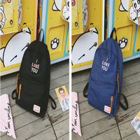Japonya Kore Tarzı Sevimli Moda Rahat Karikatür Nakış Sırt Çantası Küçük Taze Öğrenci Lady Ortaokul Öğrencisi Sırt Çantası