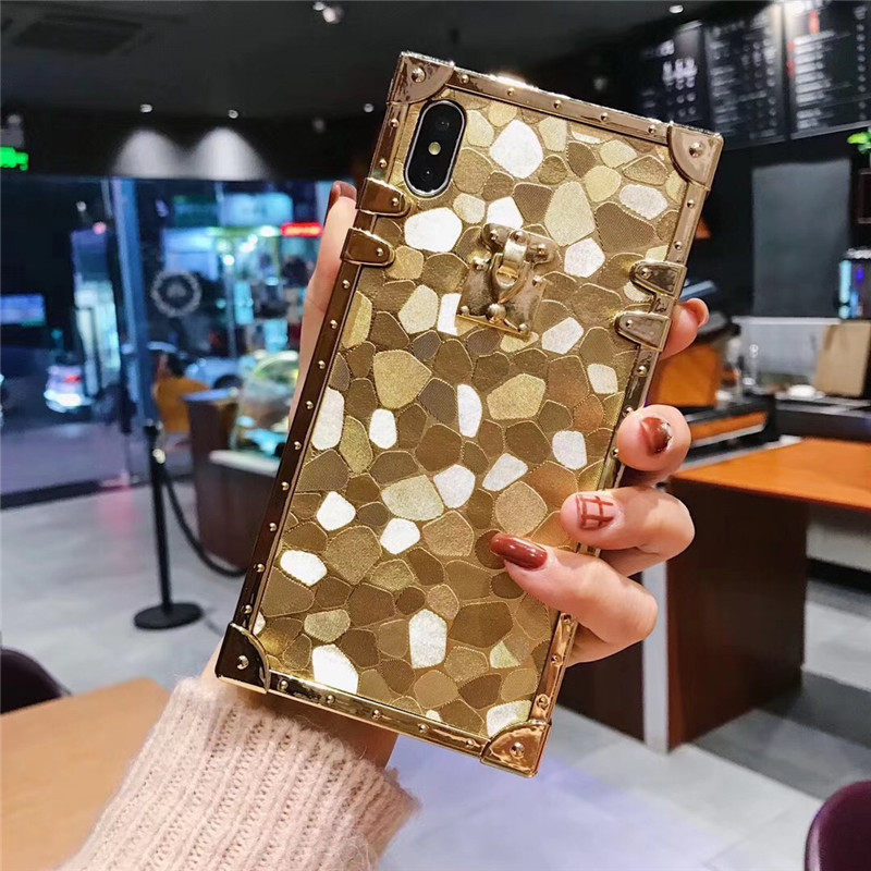 HTB1F9v6aPDuK1Rjy1zjq6zraFXaX - Luxury Square Gold glitter case for Samsung S10 Plus S9 S8 3D high quality soft cover for iphone 11 Pro X XR XS MAX 6 7 8 coque