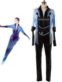 YURI on Ice Yuri Katsuki Skating Suit Cosplay Costume Shining Full Set Custom Made