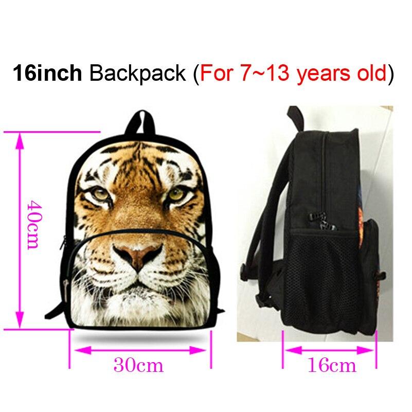 b933eee5da53 US $19.08 17% OFF|16 Inch Popular Animal Bags Children School Bags Zebra  Backpack For Kids Girls Horse Print Backpacks For Boys Animal Backpack-in  ...