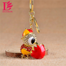 Cock Luxury Keychain Key Chain & Key Ring Holder Keyring Porte clef Gift Men Women Souvenirs Bag Pendant Car