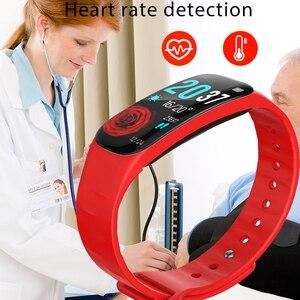 Image 2 - LIGE pulsera inteligente IP67 para mujer, Monitor de ritmo cardíaco a prueba de agua 1,14 con pantalla grande para Android ios